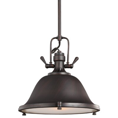 Chiaramonte 1-Light Bowl Pendant Finish: Burnt Sienna, Bulb Type: Incandescent