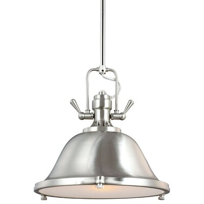 Chiaramonte 1-Light Bowl Pendant Finish: Brushed Nickel, Bulb Type: Incandescent