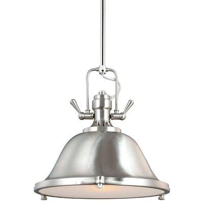 Chiaramonte 1-Light Bowl Pendant Finish: Brushed Nickel, Bulb Type: Incandescent
