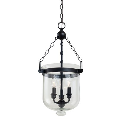 Cuffee 3-Light Foyer Pendant Size: 24