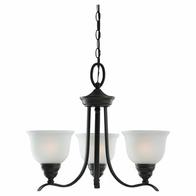 Busti 3-Light Shaded Chandelier Finish: Heirloom Bronze, Bulb Type: 100W Medium