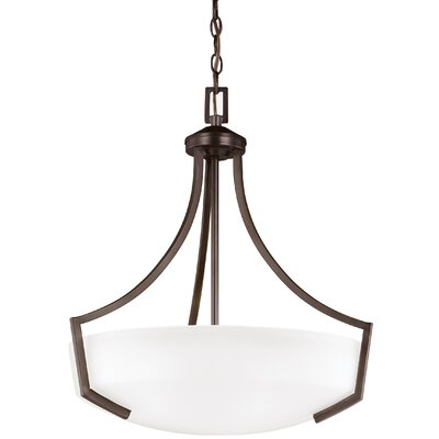 Elkton 3-Light Bowl Pendant Finish: Burnt Sienna