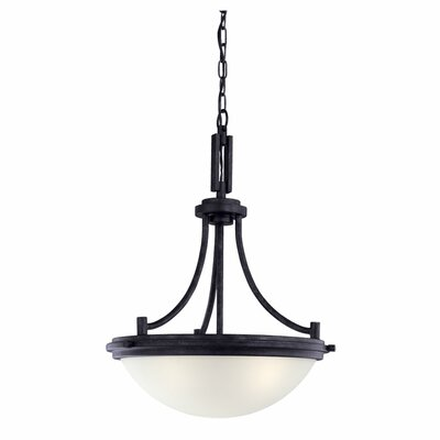 Cothren Light Inverted Pendant Finish: Blacksmith, Bulb Type: Incandescent A19 100W
