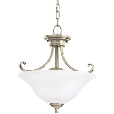 Culley 2-Light Bowl Pendant Finish: Antique Brushed Nickel, Shade Color: Satin Etched