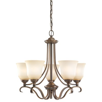 Culley 5-Light Shaded Chandelier Finish: Russet Bronze, Shade Color: Ginger