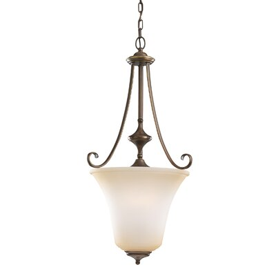 Culley 3-Light Foyer Pendant Finish: Russet Bronze, Shade Color: Ginger