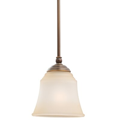 Culley 1-Light Mini Pendant Finish: Russet Bronze, Shade Color: Ginger