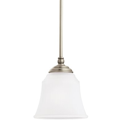 Culley 1-Light Mini Pendant Finish: Antique Brushed Nickel, Shade Color: Satin Etched