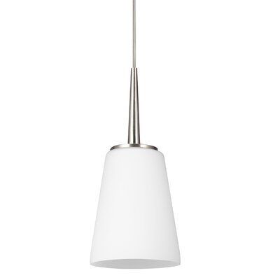 Moorcroft 1-Light Mini Pendant Finish: Brushed Nickel