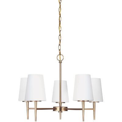 Moorcroft 5-Light Shaded Chandelier Finish: Satin Bronze