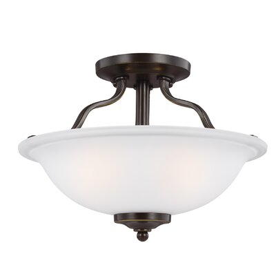 Burhall 2-Light Bowl Pendant Finish: Heirloom Bronze