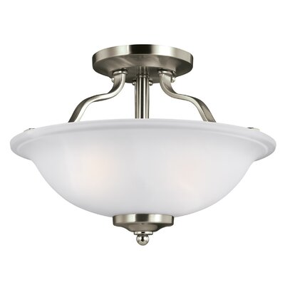 Burhall 2-Light Bowl Pendant Finish: Brushed Nickel