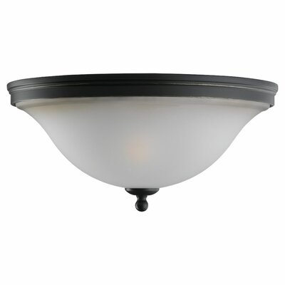 Burkes 2-Light Flush Mount Finish: Heirloom Bronze