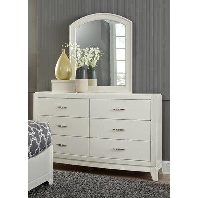 Loveryk 6 Drawer Dresser with Mirror