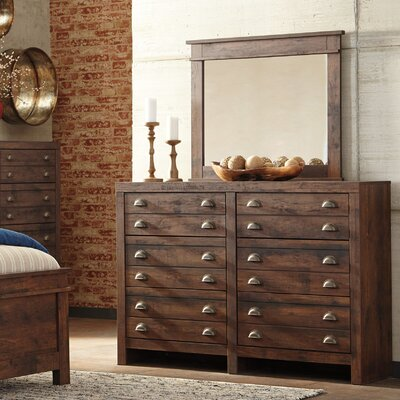 Allport 6 Drawer Double Dresser with Mirror