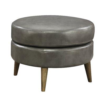 Waynesburg Round Ottoman Upholstery: Dark Gray
