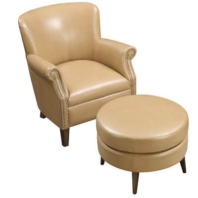 Chowdhury Armchair and Ottoman Upholstery: Saddle