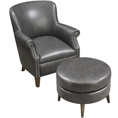 Chowdhury Armchair and Ottoman Upholstery: Dark Gray