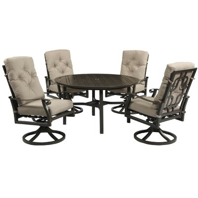 Waterville 5 Piece Dining Set with Cushions