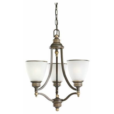 Westerville 3-Light Shaded Chandelier Finish: Estate Bronze