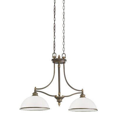 Westerville 2-Light Kitchen Island Pendant Finish: Estate Bronze