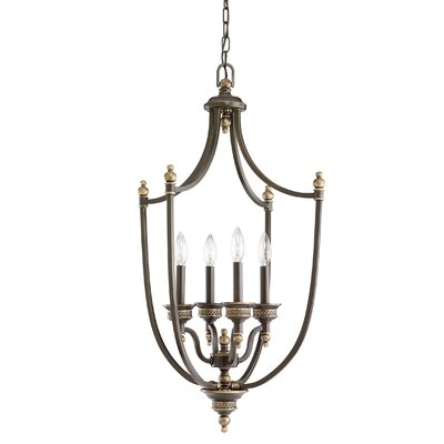 Westerville 4-Light Foyer Pendant Finish: Estate Bronze