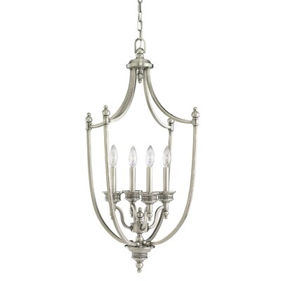Westerville 4-Light Foyer Pendant Finish: Antique Brushed Nickel