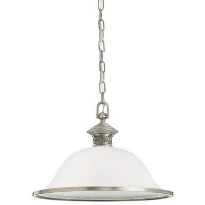 Westerville 1-Light Inverted Pendant Finish: Antique Brushed Nickel