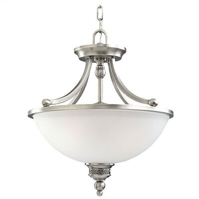 Westerville 2-Light Convertible Inverted Pendant Finish: Antique Brushed Nickel