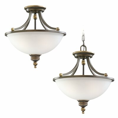 Westerville 2-Light Convertible Inverted Pendant Finish: Estate Bronze