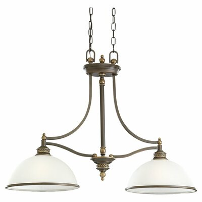 Westerville 2-Light Kitchen Island Pendant Light Finish: Estate Bronze