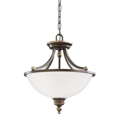 Westerville 2-Light Bowl Pendant Finish: Estate Bronze
