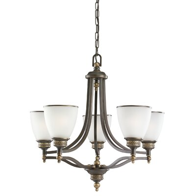 Westerville 5-Light Shaded Chandelier Finish: Estate Bronze