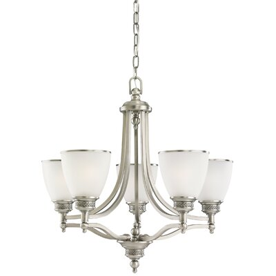 Westerville 5-Light Shaded Chandelier Finish: Antique Brushed Nickel