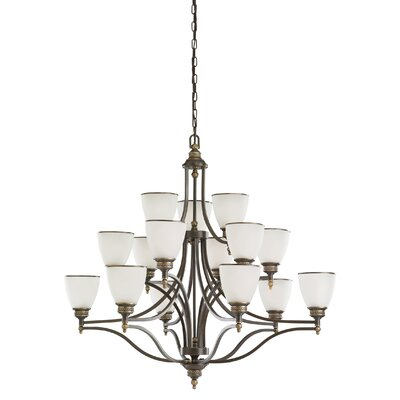 Westerville 15-Light Shaded Chandelier Finish: Estate Bronze