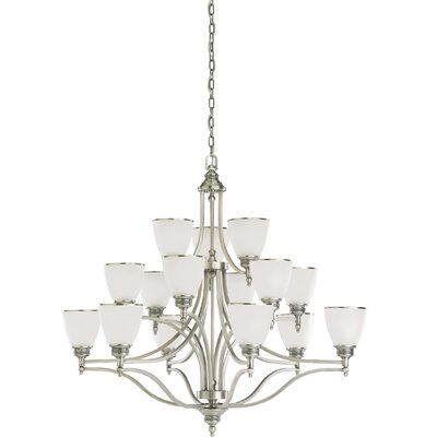Westerville 15-Light Shaded Chandelier Finish: Antique Brushed Nickel
