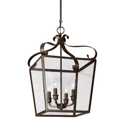 Weston 4-Light Foyer Pendant Finish: Heirloom Bronze