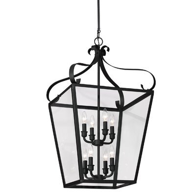 Weston 8-Light Foyer Pendant Finish: Blacksmith