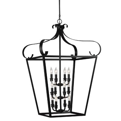 Weston 12-Light Foyer Pendant Finish: Blacksmith