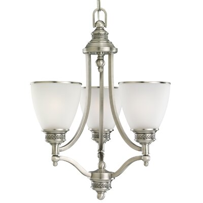 Westerville 3-Light Shaded Chandelier Finish: Antique Brushed Nickel