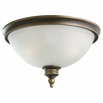 Westerville 2-Light Flush Mount Finish: Estate Bronze