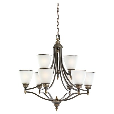Westerville 9-Light Shaded Chandelier Finish: Estate Bronze