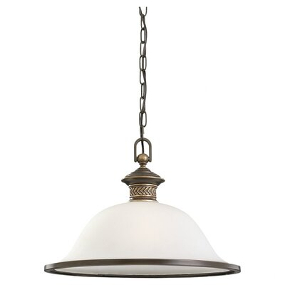Westerville 1-Light Bowl Pendant Finish: Estate Bronze