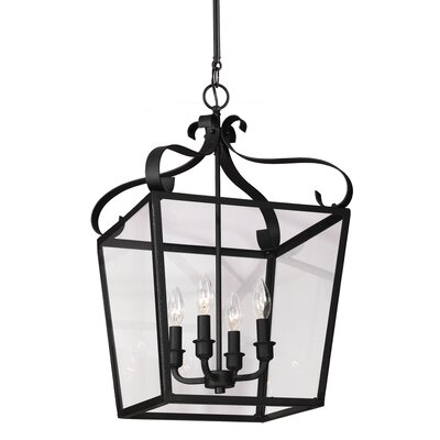 Weston 4-Light Foyer Pendant Finish: Blacksmith