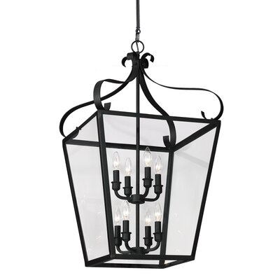 Weston 8-Light Foyer Lantern Pendant Finish: Blacksmith
