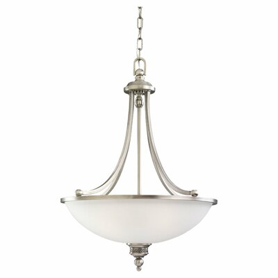 Westerville 3-Light Bowl Pendant Finish: Antique Brushed Nickel