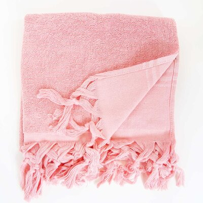 Hudgens Hand Towel (Set of 2) Color: Strawberry