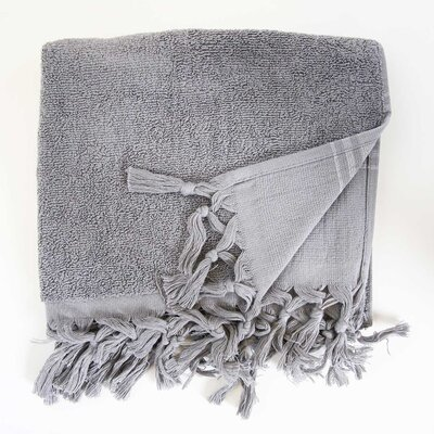 Hudgens Hand Towel (Set of 2) Color: Dark Grey