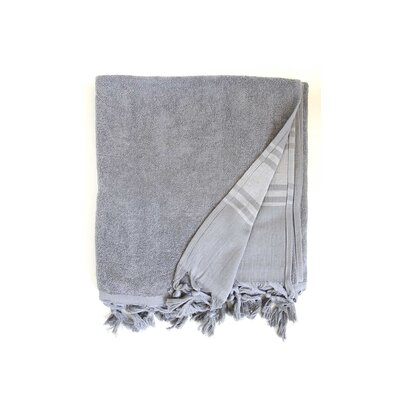 Hudgens Bath Sheet Color: Dark Grey
