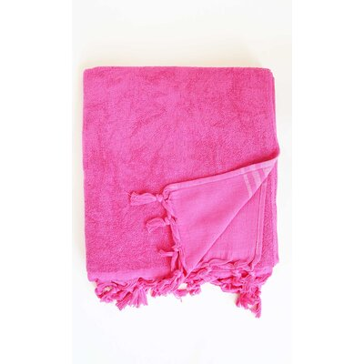 Hudgens Bath Sheet Color: Fushia